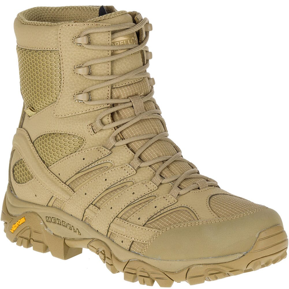 Image for Merrell Men's Moab 2 8IN WP Wide Tactical Boots - Coyote from bootbay