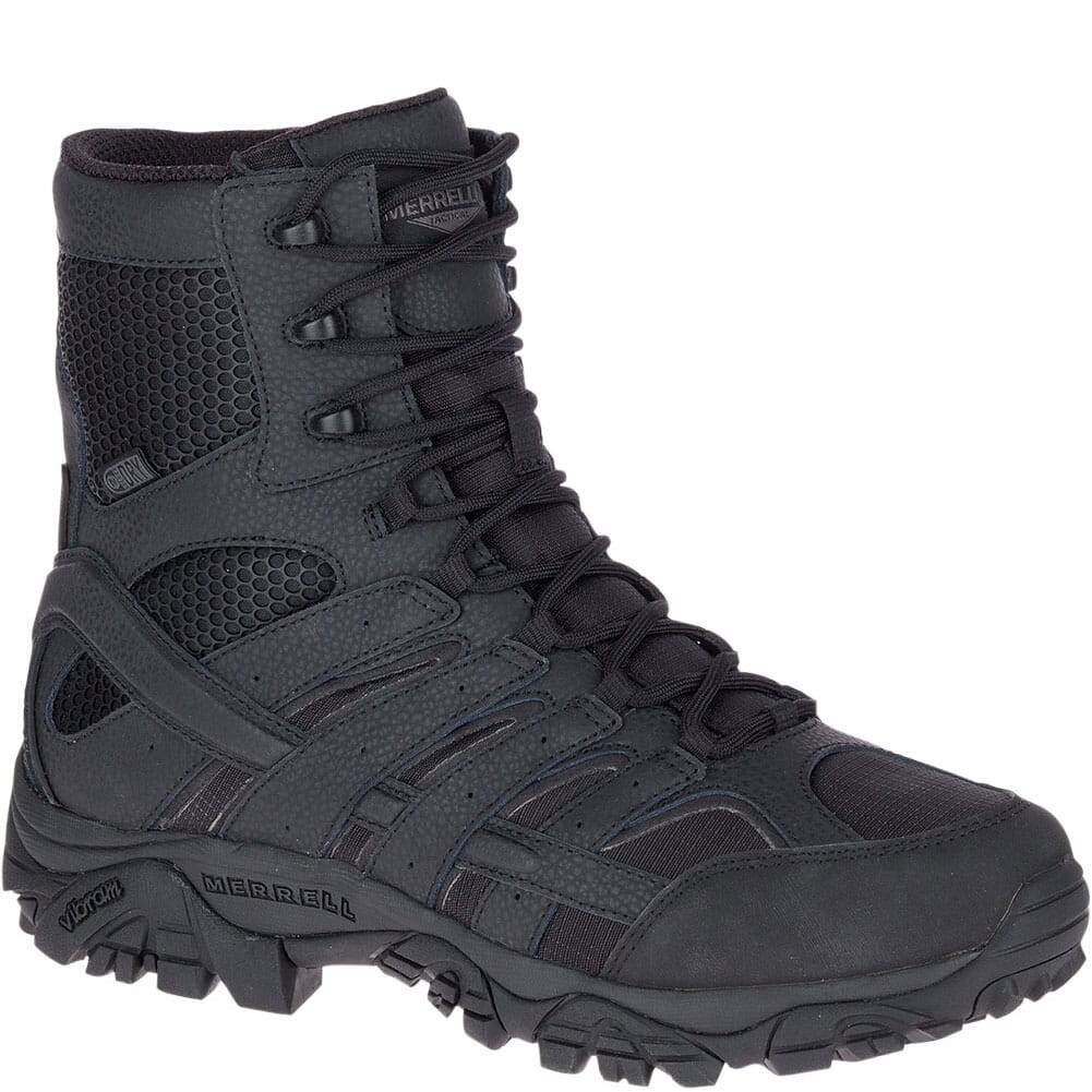 Image for Merrell Men's Moab 2 8IN WP Wide Tactical Boots - Black from bootbay