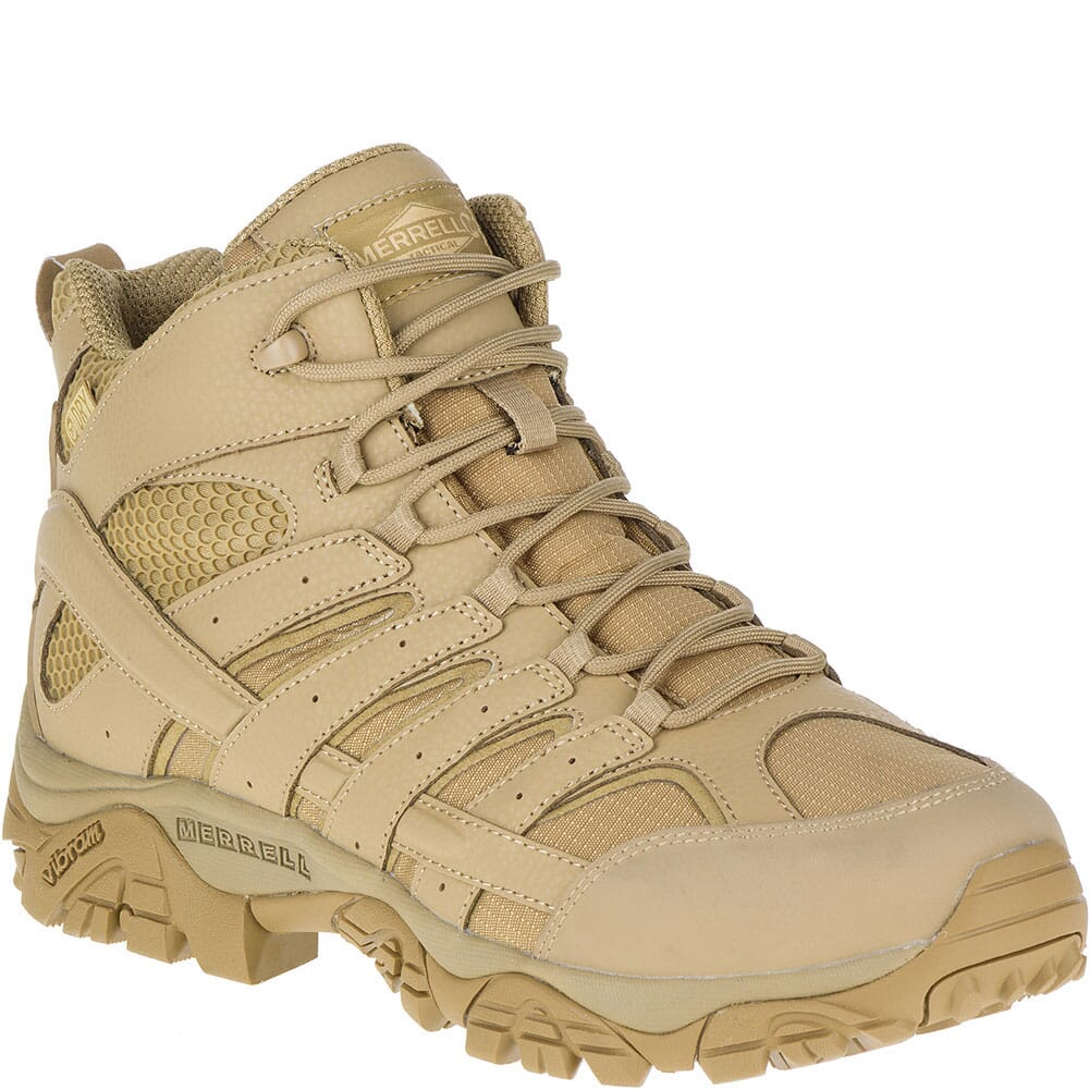 Image for Merrell Men's Moab 2 WP Wide Tactical Boots - Coyote from bootbay