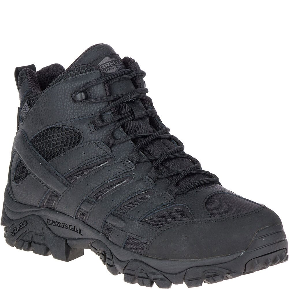 Image for Merrell Men's Moab 2 Mid WP Tactical Boots - Black from bootbay