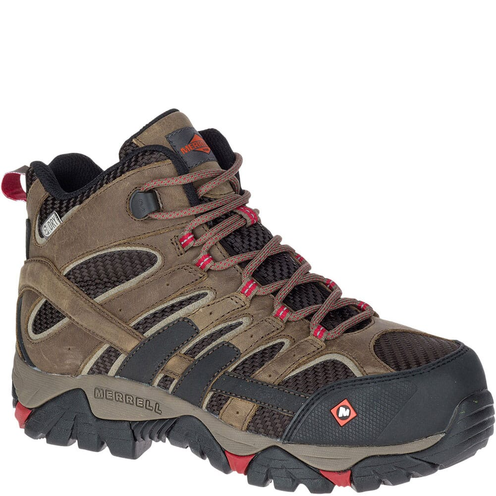 Image for Merrell Women's Moab 2 Vent Mid WP Safety Shoes - Boulder from elliottsboots
