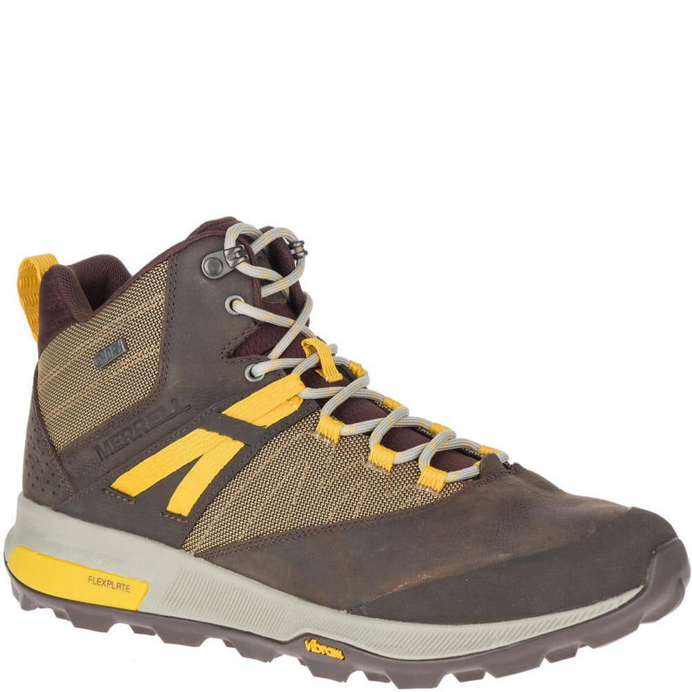 Image for Merrell Men's Zion Mid WP Hiking Boots - Seal Brown from bootbay
