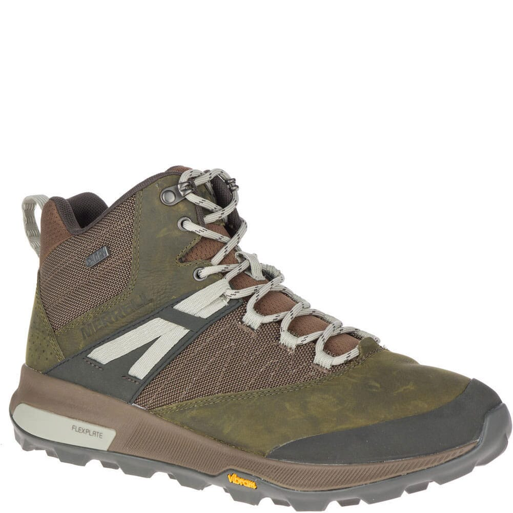 Image for Merrell Men's Zion Mid WP Hiking Boots - Dark Olive from bootbay