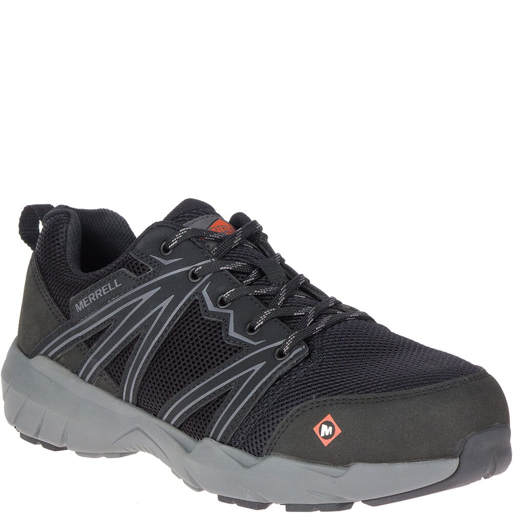 Image for Merrell Men's Fullbench Superlite Safety Shoes - Black from bootbay