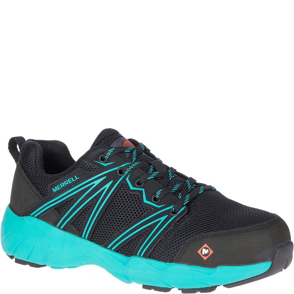Image for Merrell Women's Fullbench Superlite Safety Shoes - Black/Teal from bootbay