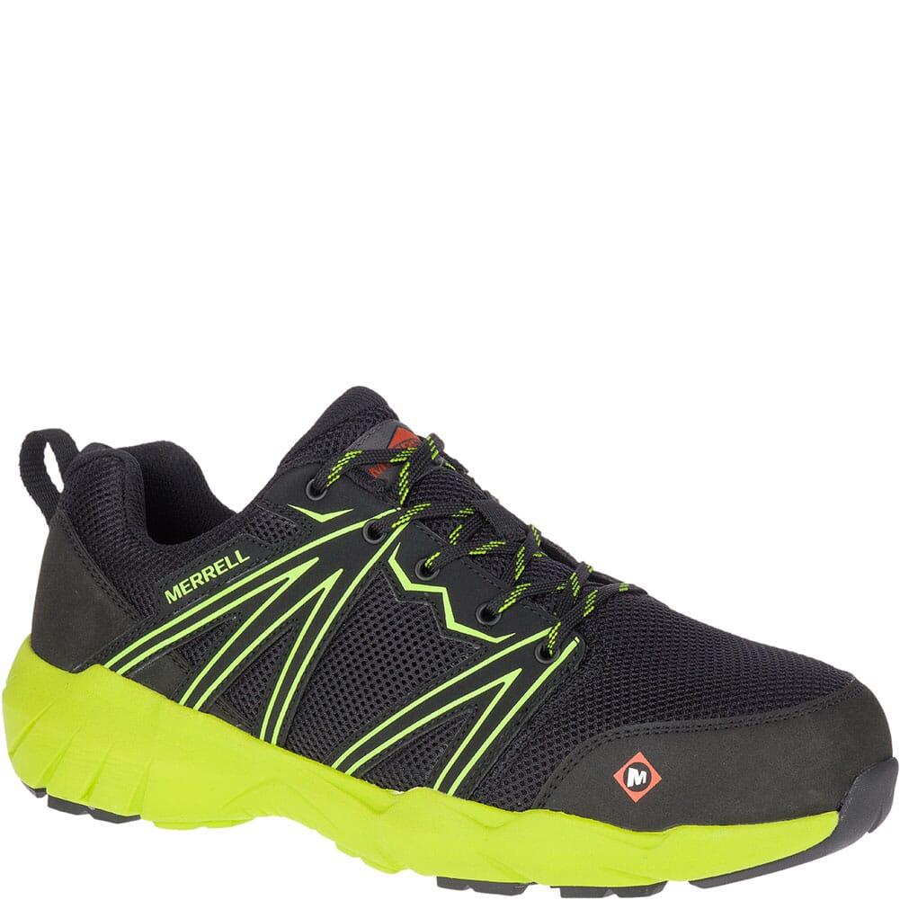 Image for Merrell Men's Fullbench Superlite Safety Shoes - Black/Lime from bootbay