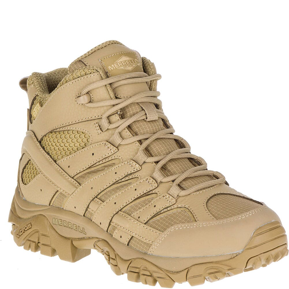 Image for Merrell Women's Moab 2 Mid WP Tactical Boots - Coyote from elliottsboots