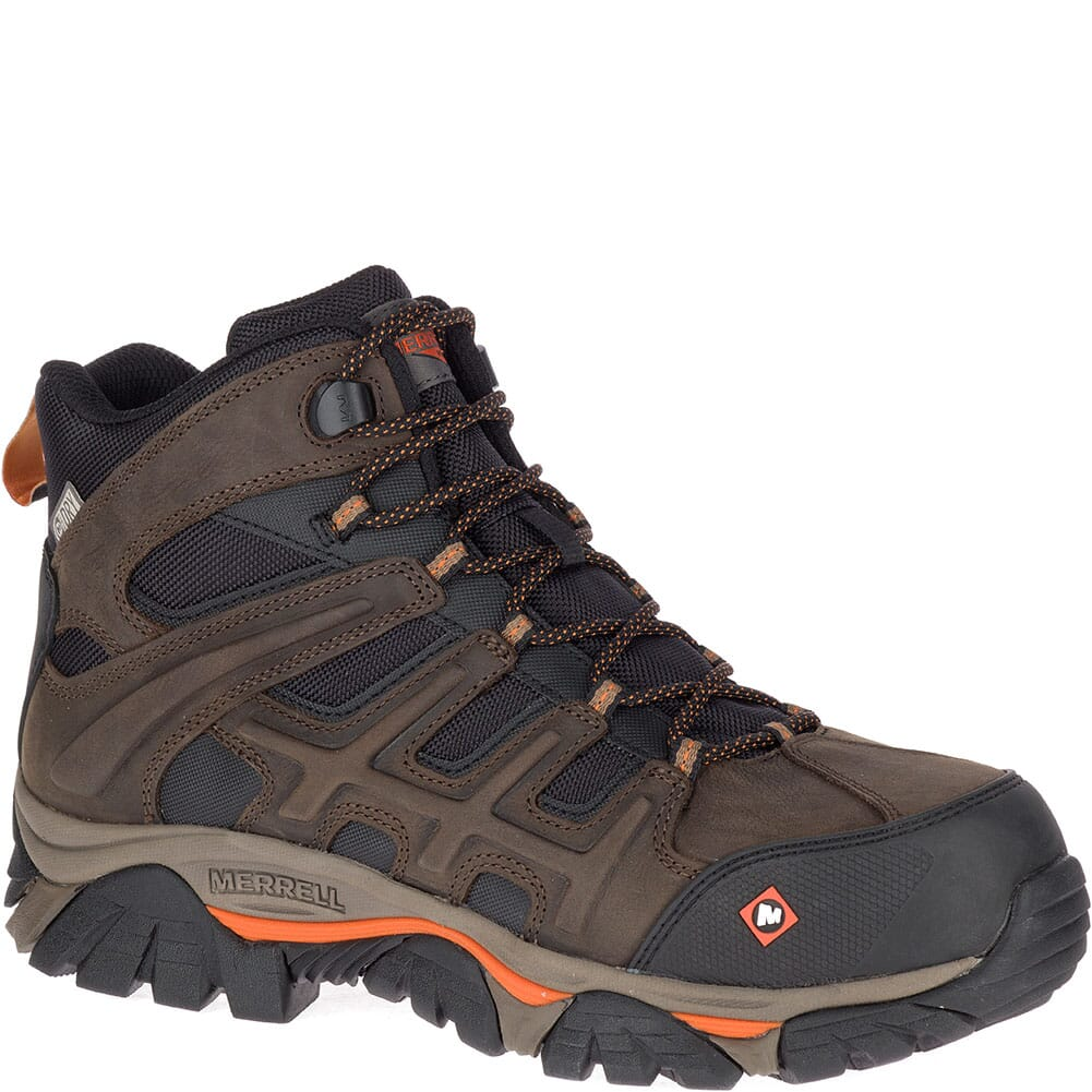 Image for Merrell Men's Moab 2 Peak Mid WP Safety Boots - Espresso from bootbay