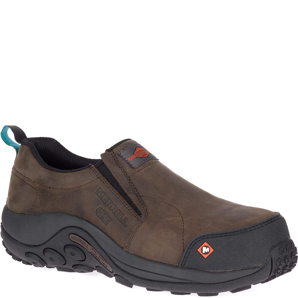 Image for Merrell Women's Jungle Moc ESD Safety Shoes - Espresso from elliottsboots