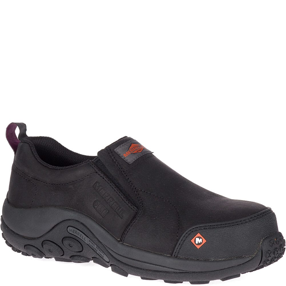 Image for Merrell Women's Jungle Moc ESD Safety Shoes - Black from elliottsboots