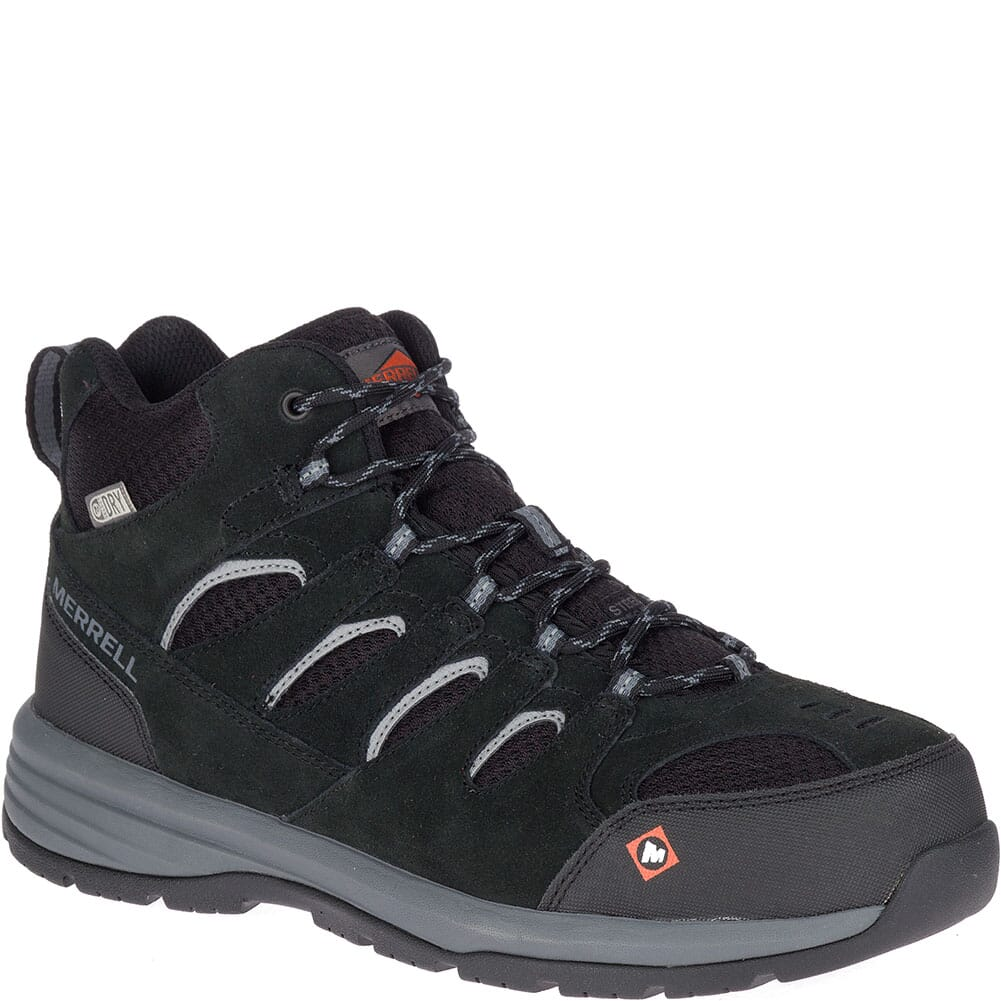 Image for Merrell Men's Windoc Mid WP Wide Safety Boots - Black from bootbay
