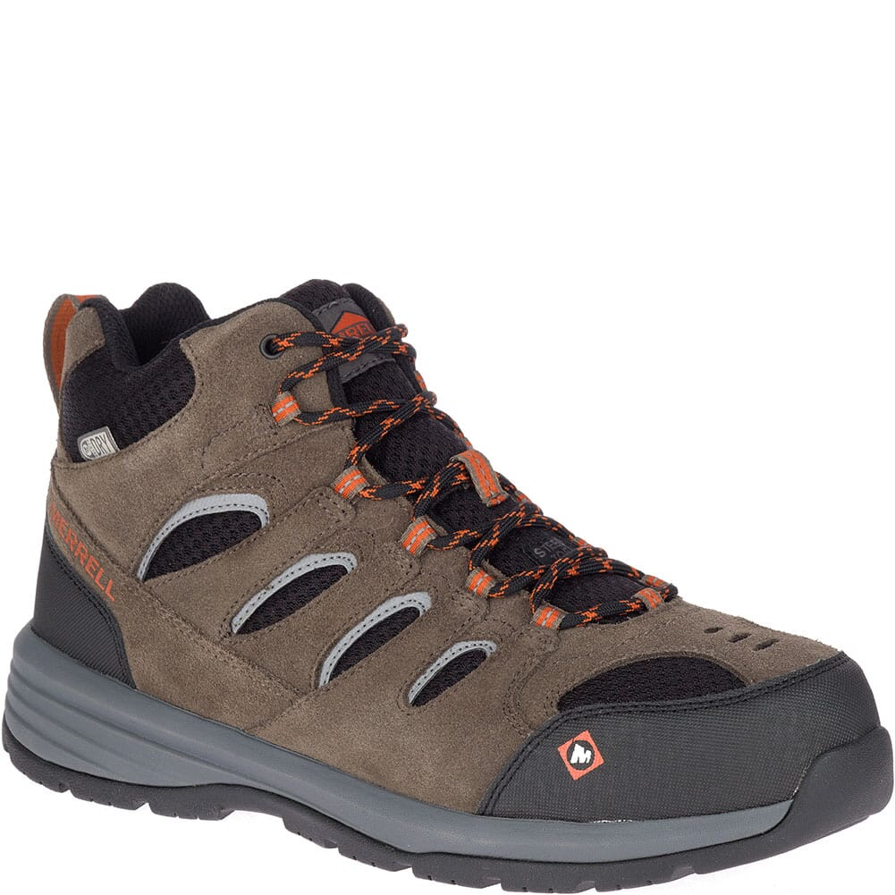 Image for J17817W Merrell Men's Windoc Mid WP Wide Safety Boots - Boulder from bootbay