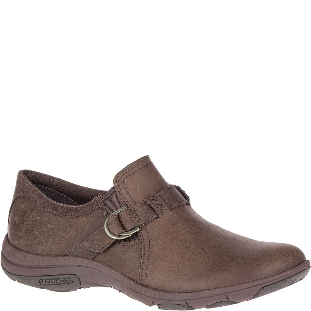 Image for Merrell Women's Dassie Stitch Buckle Casual Shoes - Espresso from bootbay