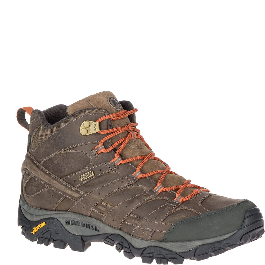 Image for Merrell Men's Moab 2 Prime Mid WP Hiking Boots - Canteen from elliottsboots