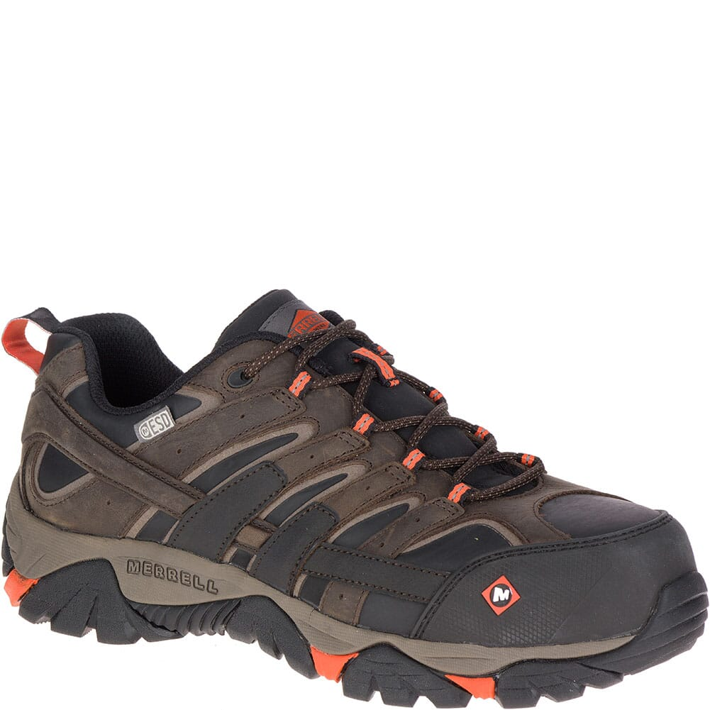 Image for Merrell Men's Moab 2 ESD Safety Shoes - Espresso from bootbay