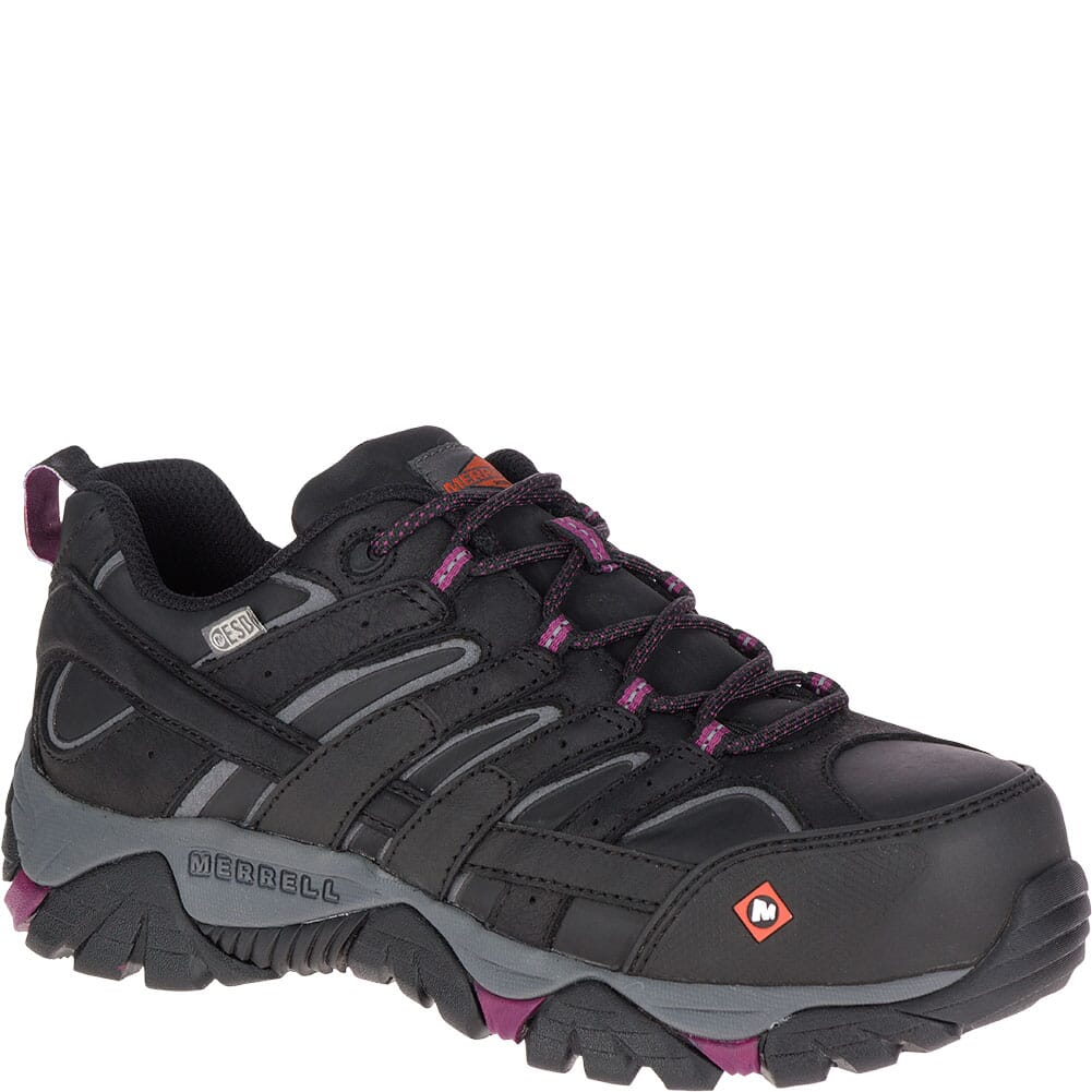Image for Merrell Women's Moab 2 ESD Safety Shoes - Black from bootbay