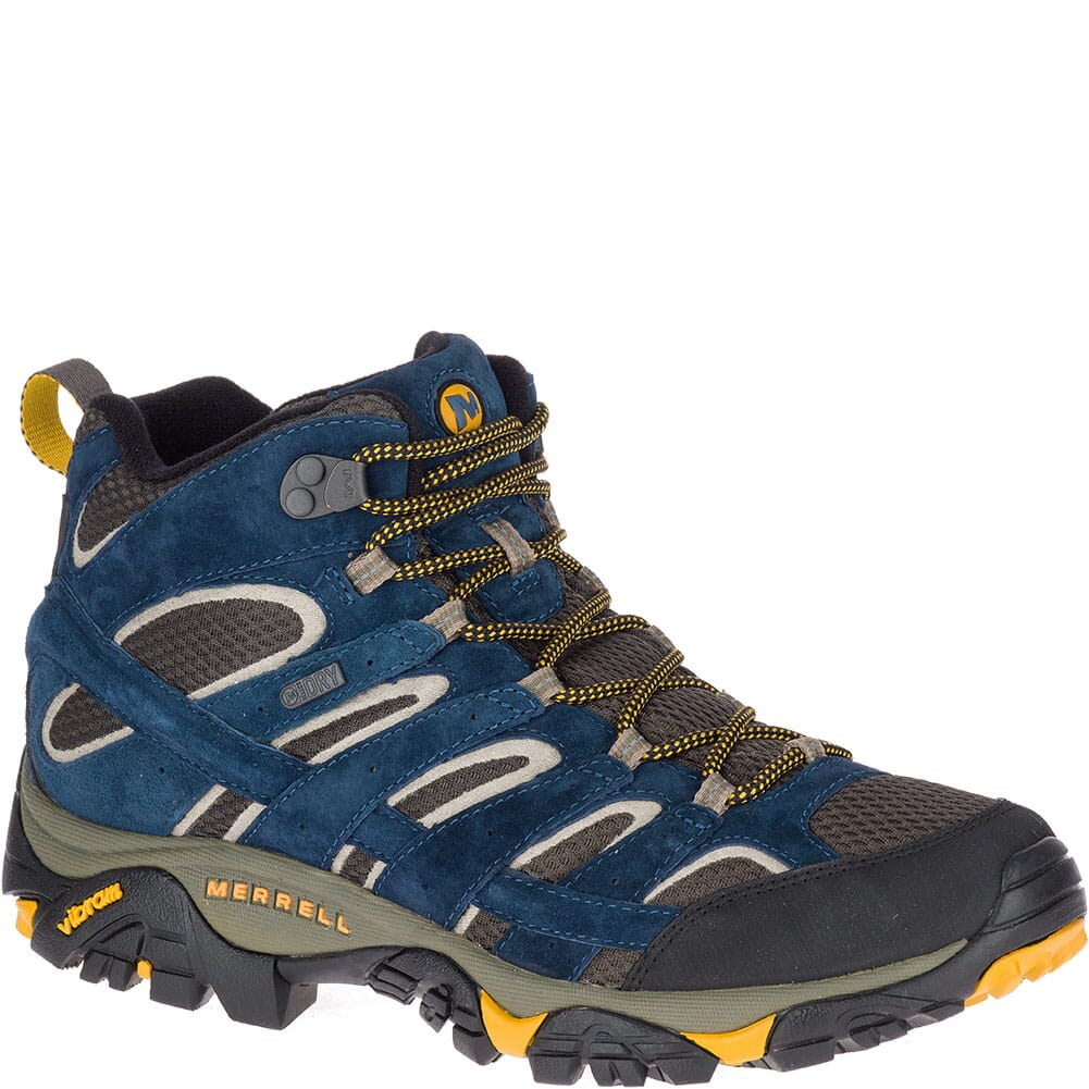 Image for Merrell Men's Moab 2 Mid WP Hiking Boots - Olive/Blue from bootbay