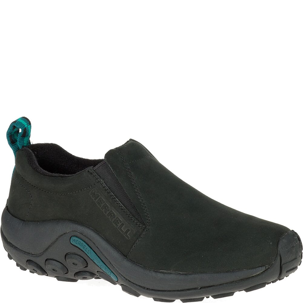 Image for Merrell Women's Jungle Moc Nubuck Casual Shoes - Black from bootbay