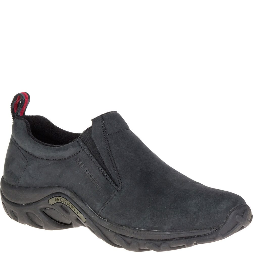 Image for Merrell Men's Jungle Moc Nubuck Casual Shoes - Black from bootbay