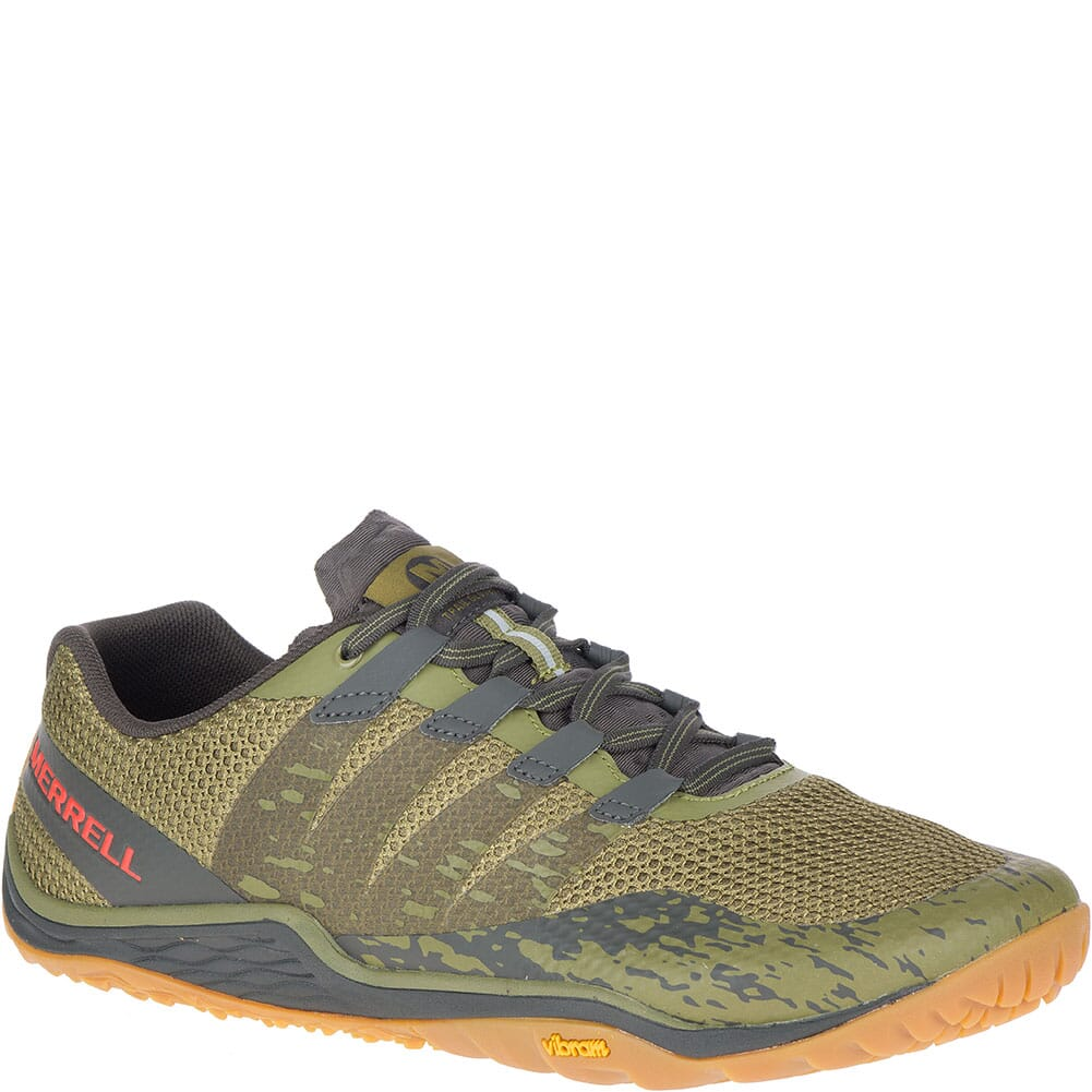Image for Merrell Men's Trail Glove 5 Athletic Shoes - Olive Drab/Beluga from bootbay