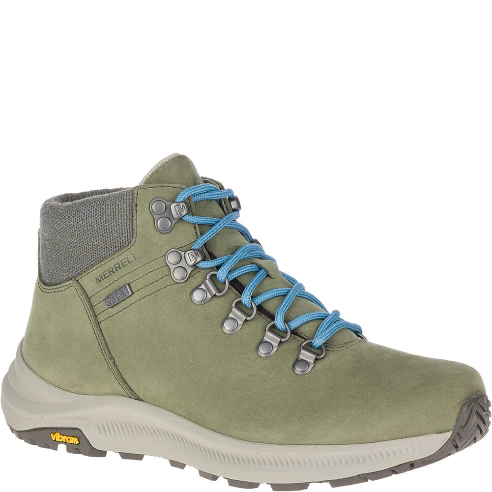 Image for Merrell Women's Ontario Mid WP Hiking Boots - Lichen from elliottsboots