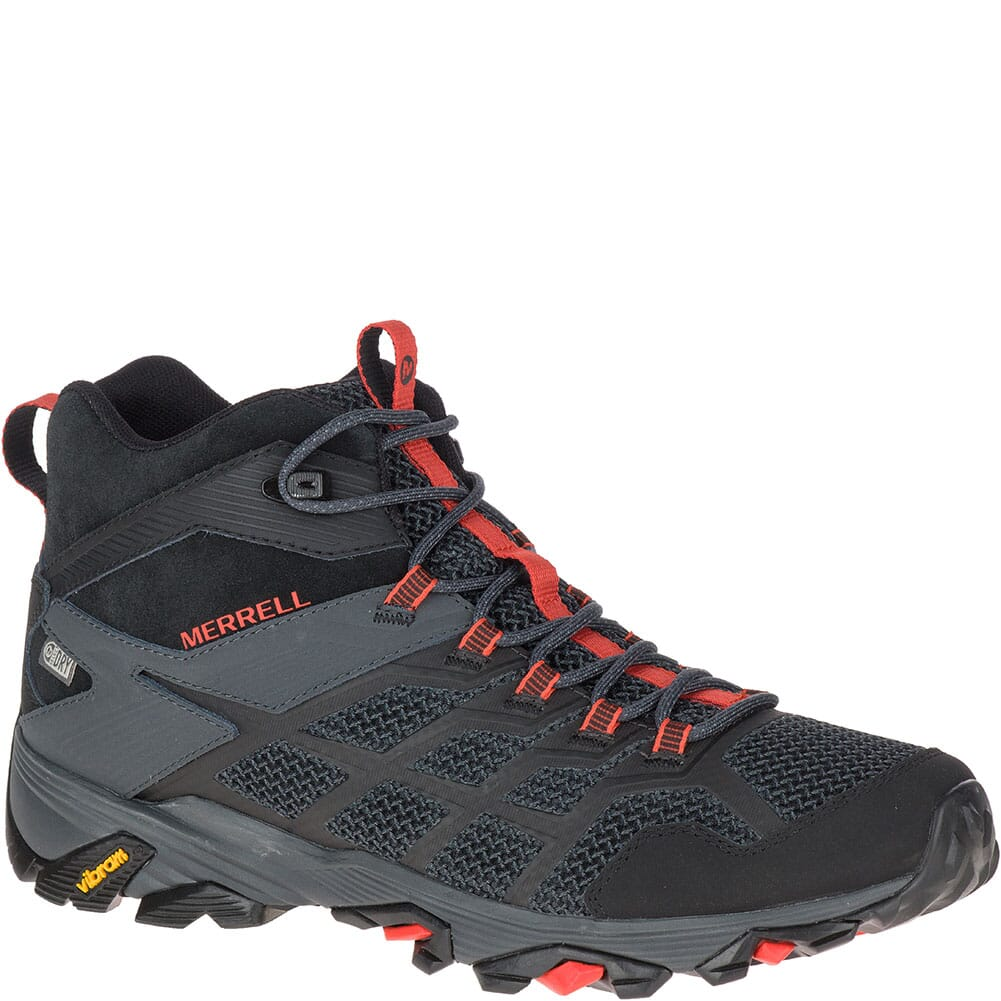 Image for Merrell Men's Moab FST 2 Mid WP Hiking Boots - Black/Granite from bootbay