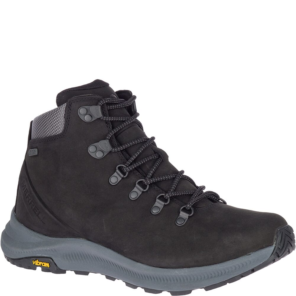 Image for Merrell Men's Ontario Mid WP Hiking Boots - Black from bootbay