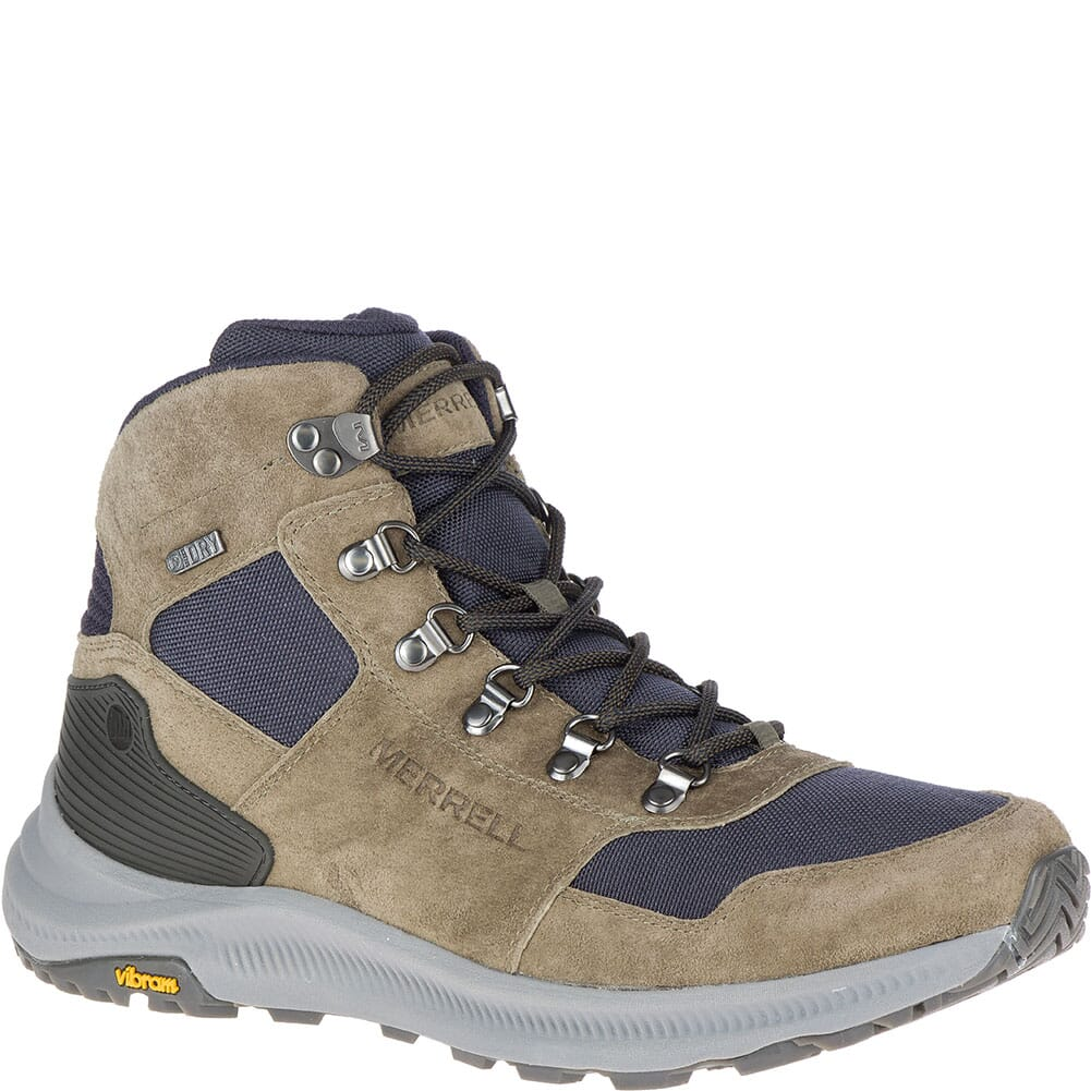 Image for Merrell Men's Ontario 85 Mid WP Hiking Boots - Olive from bootbay