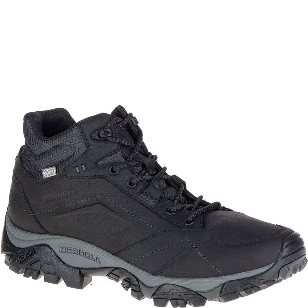 Image for Merrell Men's Moab Adventure Mid WP Hiking Boots - Black from bootbay