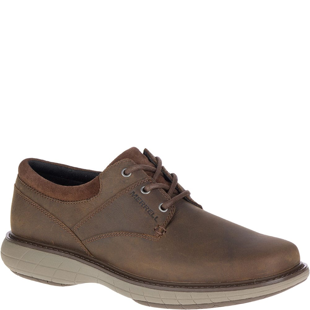 Image for Merrell Men's World Vue Lace Wide Casual Shoes - Dark Brown from bootbay