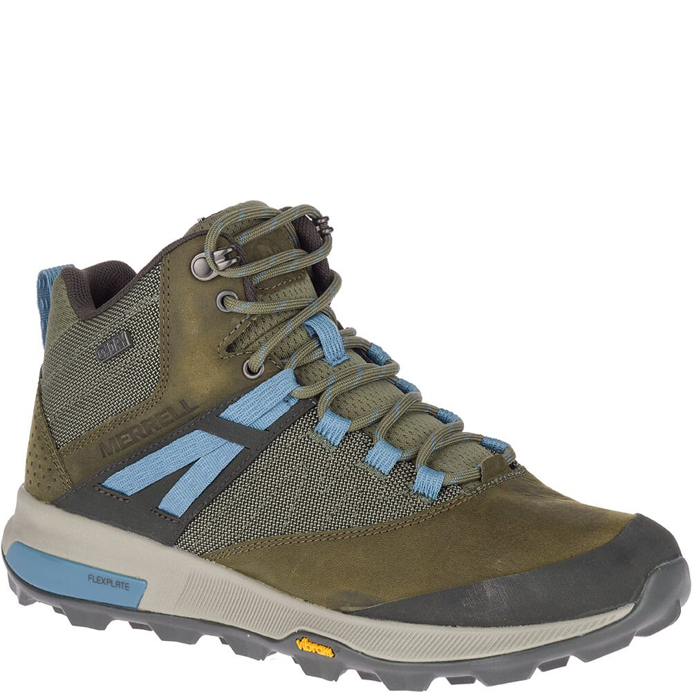 Image for Merrell Women's Zion Mid WP Hiking Boots - Dark Olive from elliottsboots