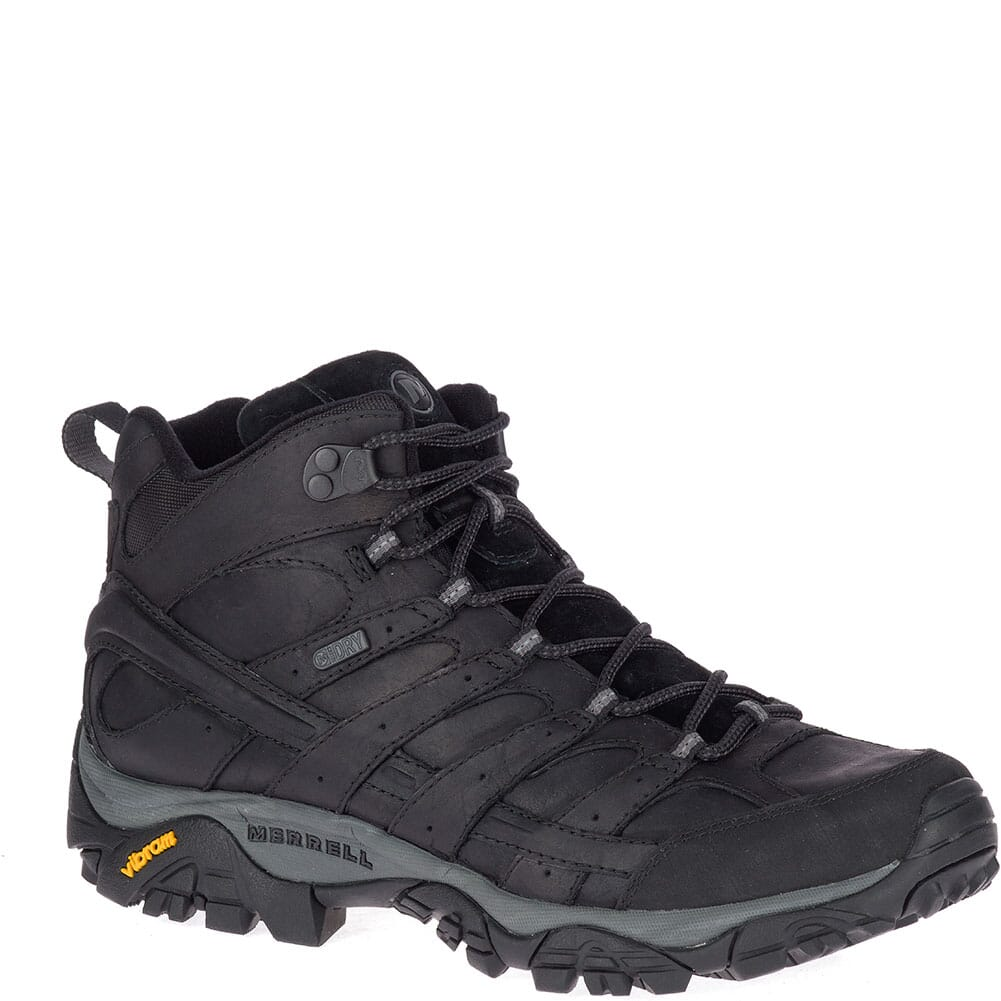 Image for Merrell Men's Moab 2 Prime Mid WP Hiking Boots - Black from bootbay