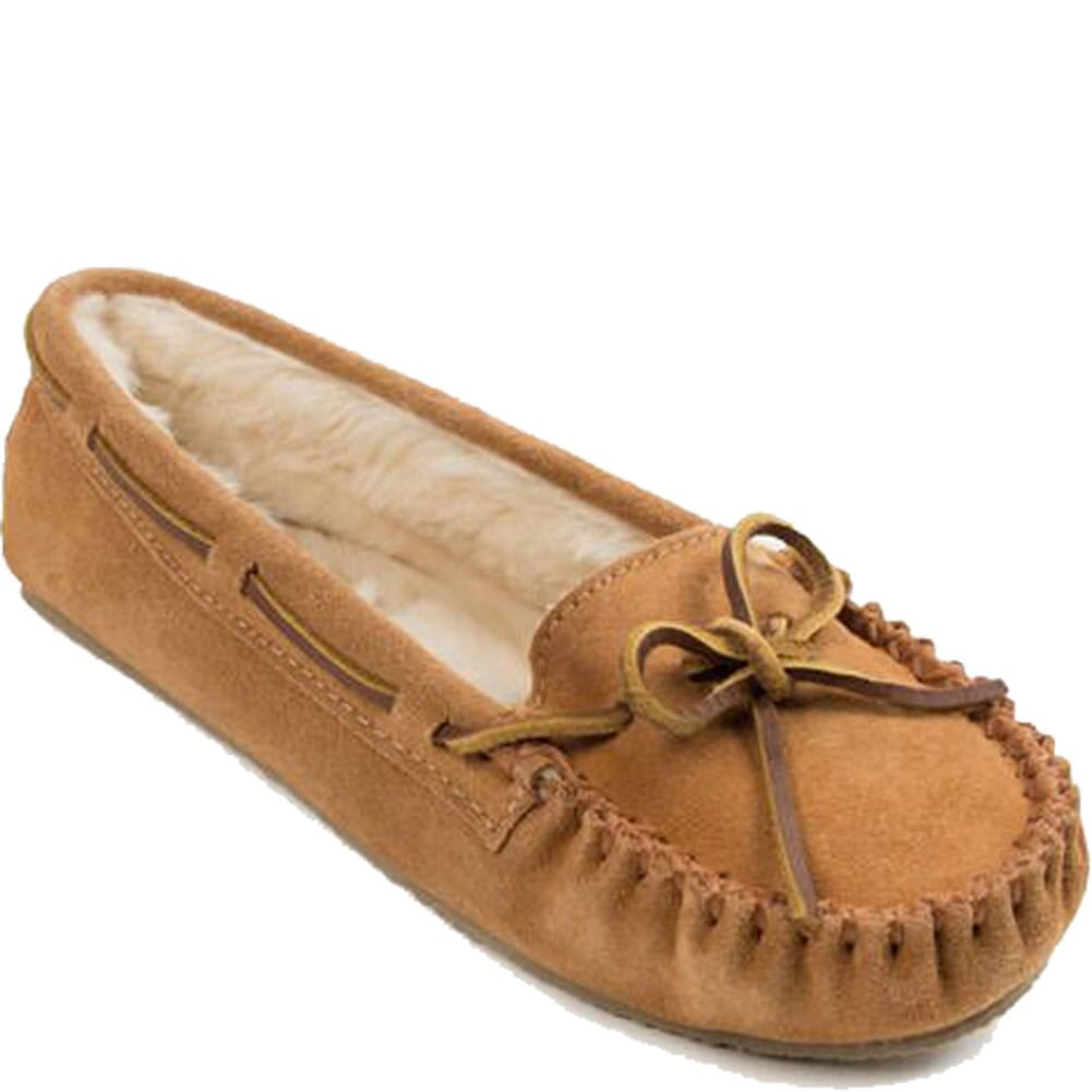 Image for Minnetonka Women's Cally Sheepskin Moccasins - Cinnamon from bootbay