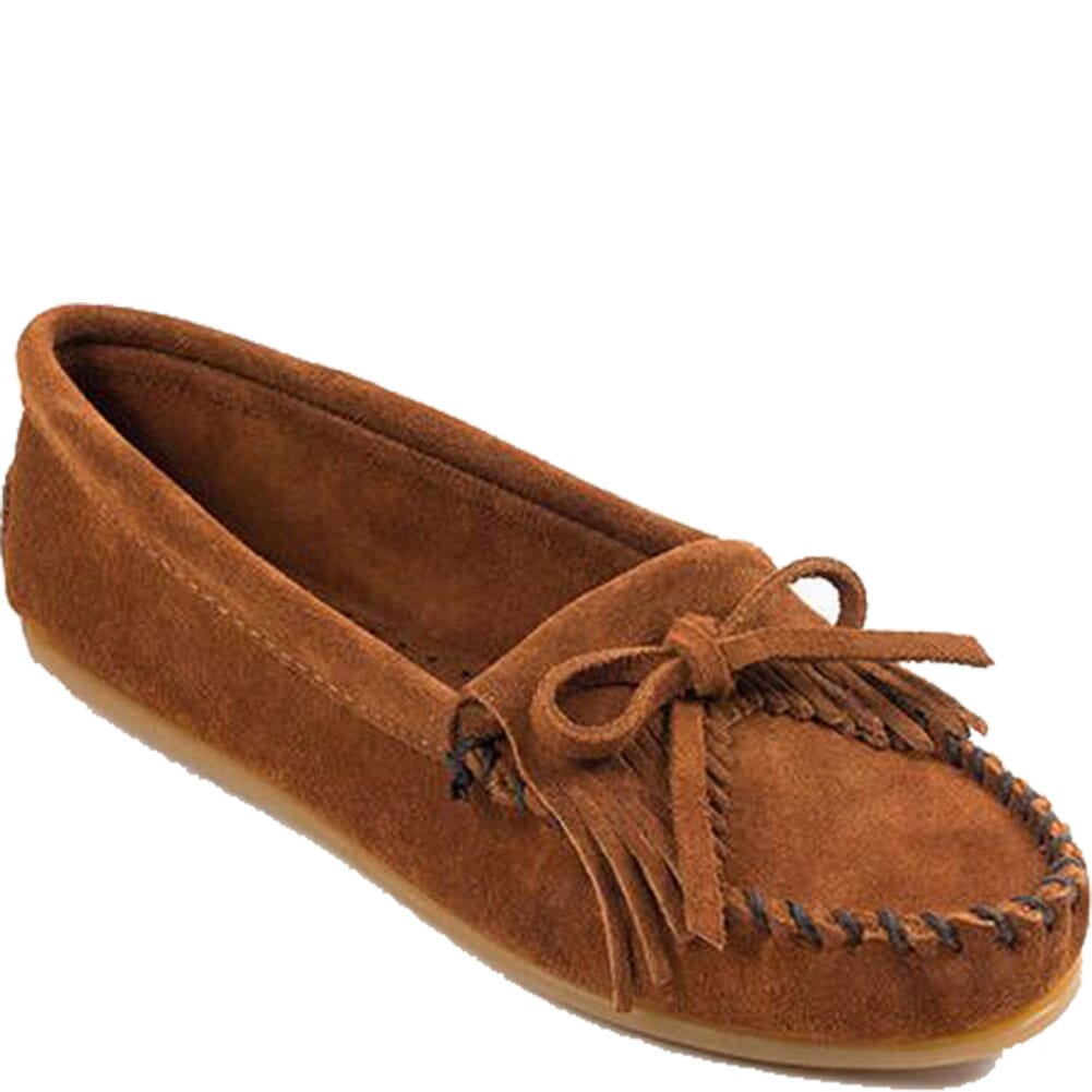 Image for Minnetonka Women's Kilty Hardsole Moccasins - Brown from bootbay