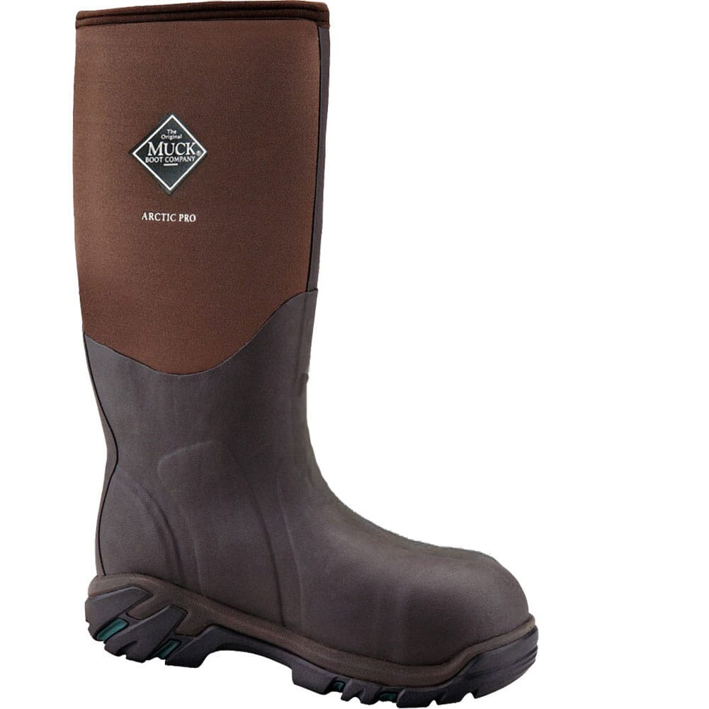 Image for Muck Men's Arctic Pro WP Safety Boots - Brown from bootbay