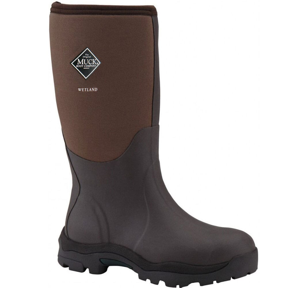 Image for Muck Women's Wetland Rubber Boots - Tan/Bark from elliottsboots