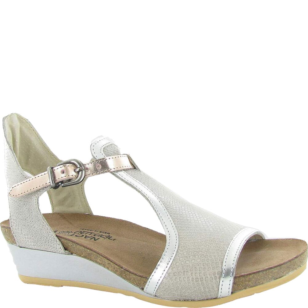 Image for Naot Women's Fiona Sandals - Beige Lizard/Silver Luster/Rose Gold from bootbay