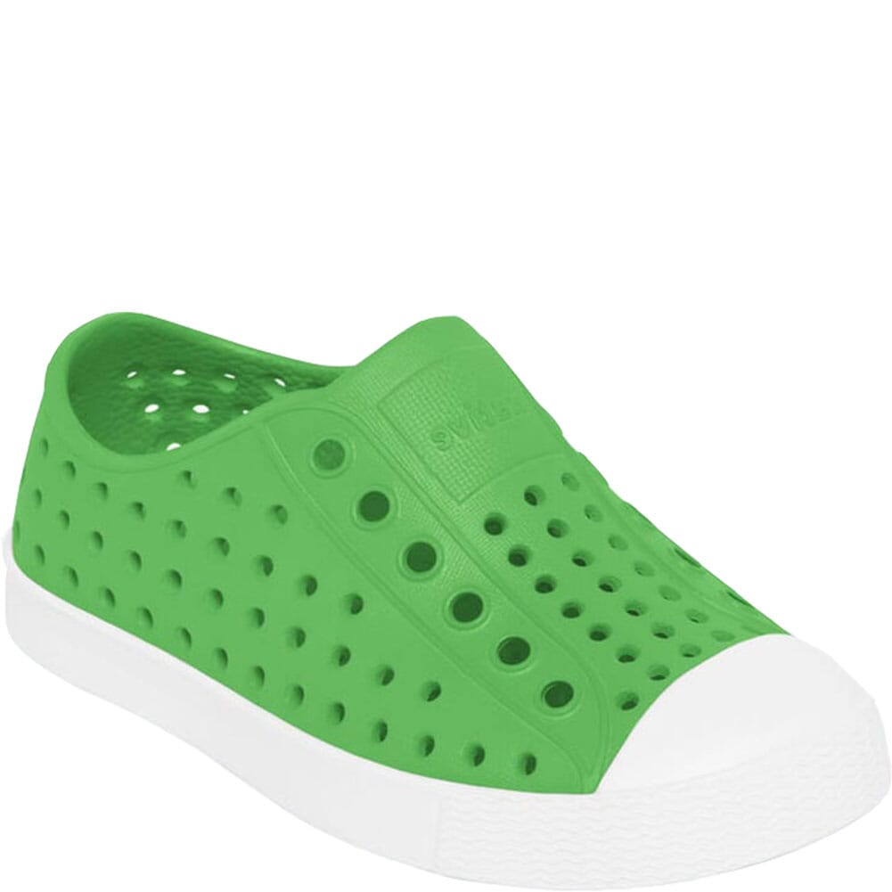 Image for Native Kid's Jefferson Junior Casual Shoes - Grasshopper Green from bootbay