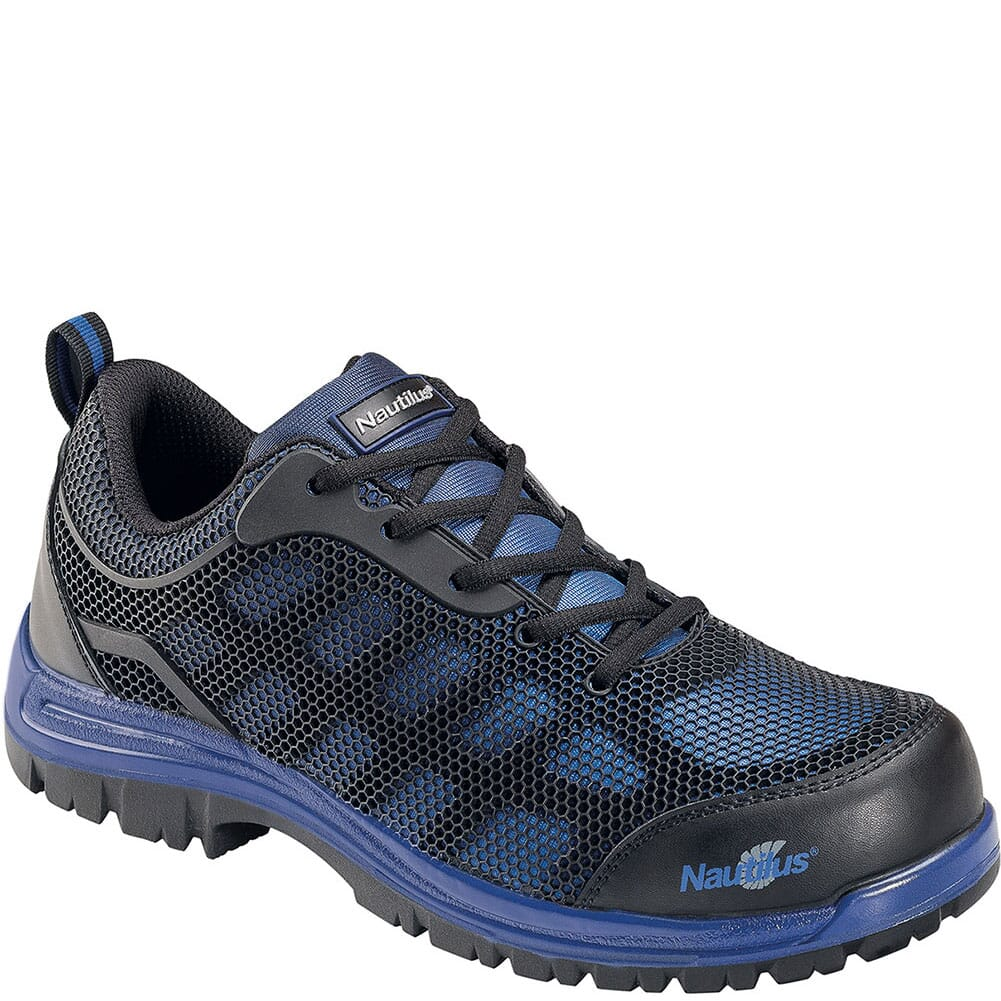 Image for Nautilus Men's Slip Resistant EH Safety Shoes - Black/Blue from bootbay