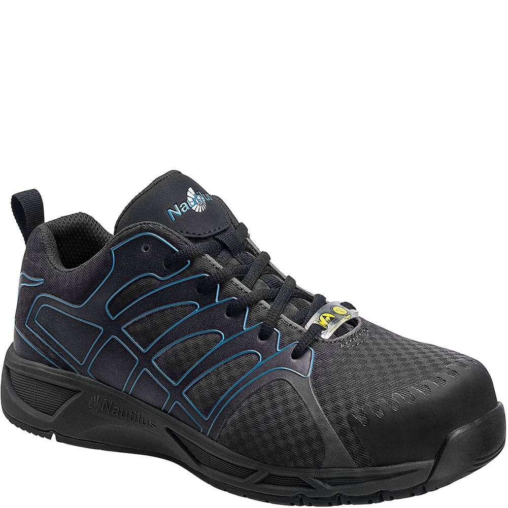 Image for Nautilus Men's ESD Carbon Safety Shoes - Grey/Blue from bootbay
