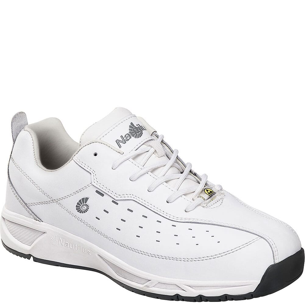 Image for Nautilus Men's Slip Resistant Work Shoes - White from bootbay
