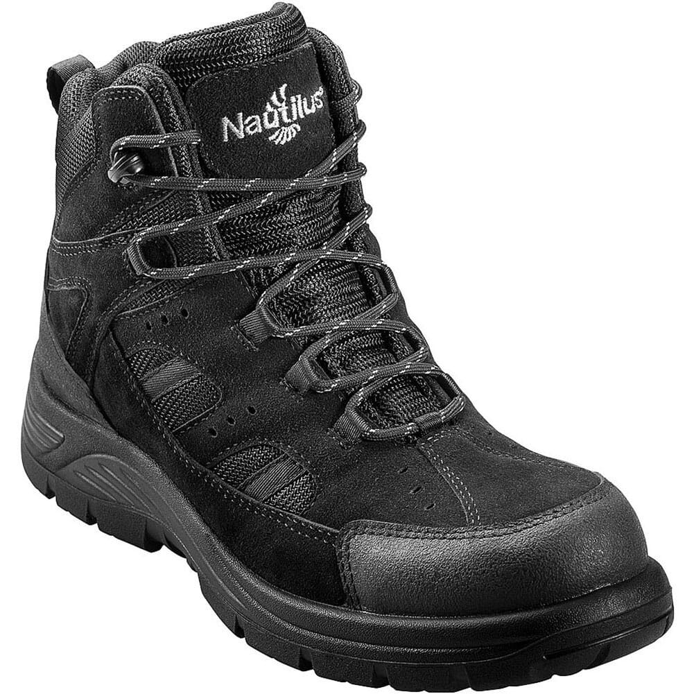 Image for Nautilus Men's Waterproof EH Safety Boots - Black from bootbay