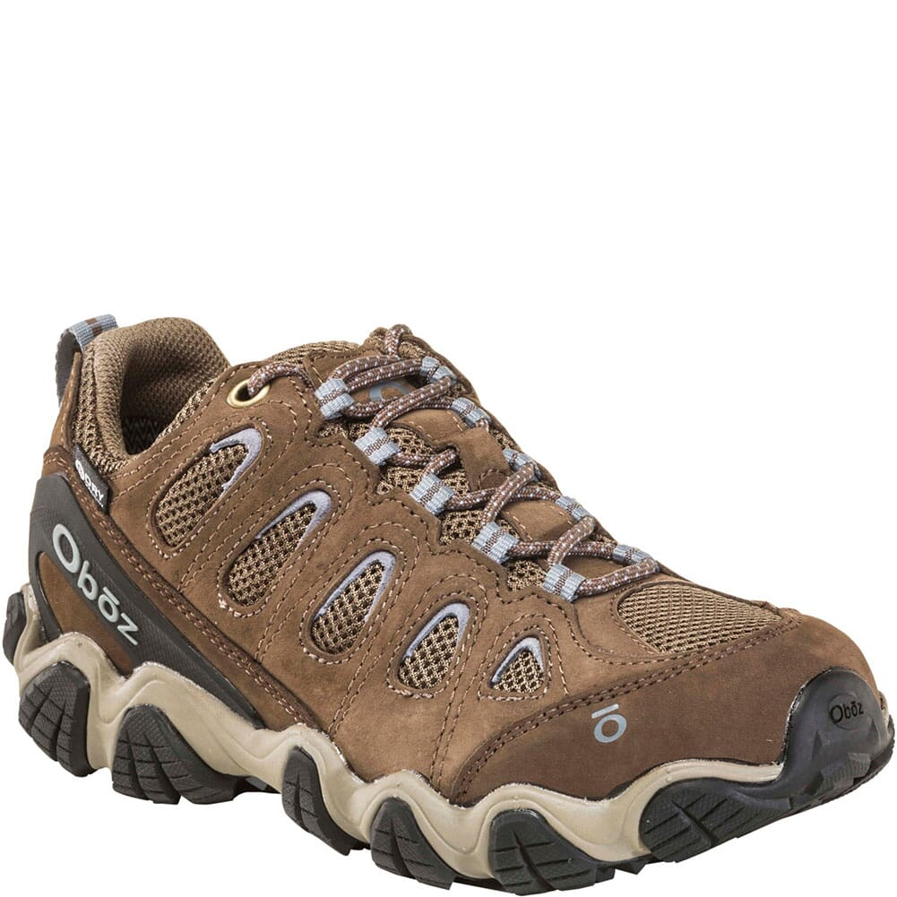 Image for OBOZ Women's Sawtooth II Low WP Hiking Shoes - Brindle/Tradewinds from elliottsboots