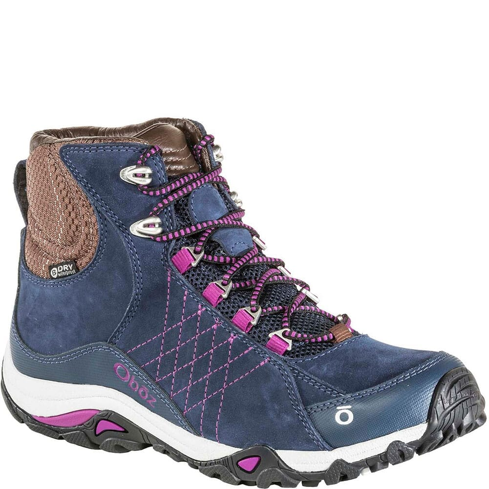 Image for OBOZ Women's Sapphire Mid WP Hiking Boots - Huckleberry from bootbay