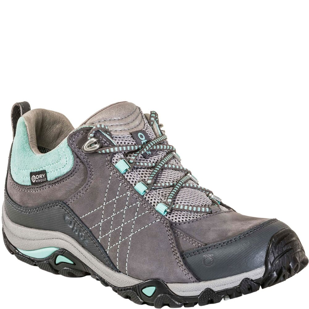 Image for OBOZ Women's Sapphire Low WP Hiking Shoes - Charcoal/Beach Glass from bootbay