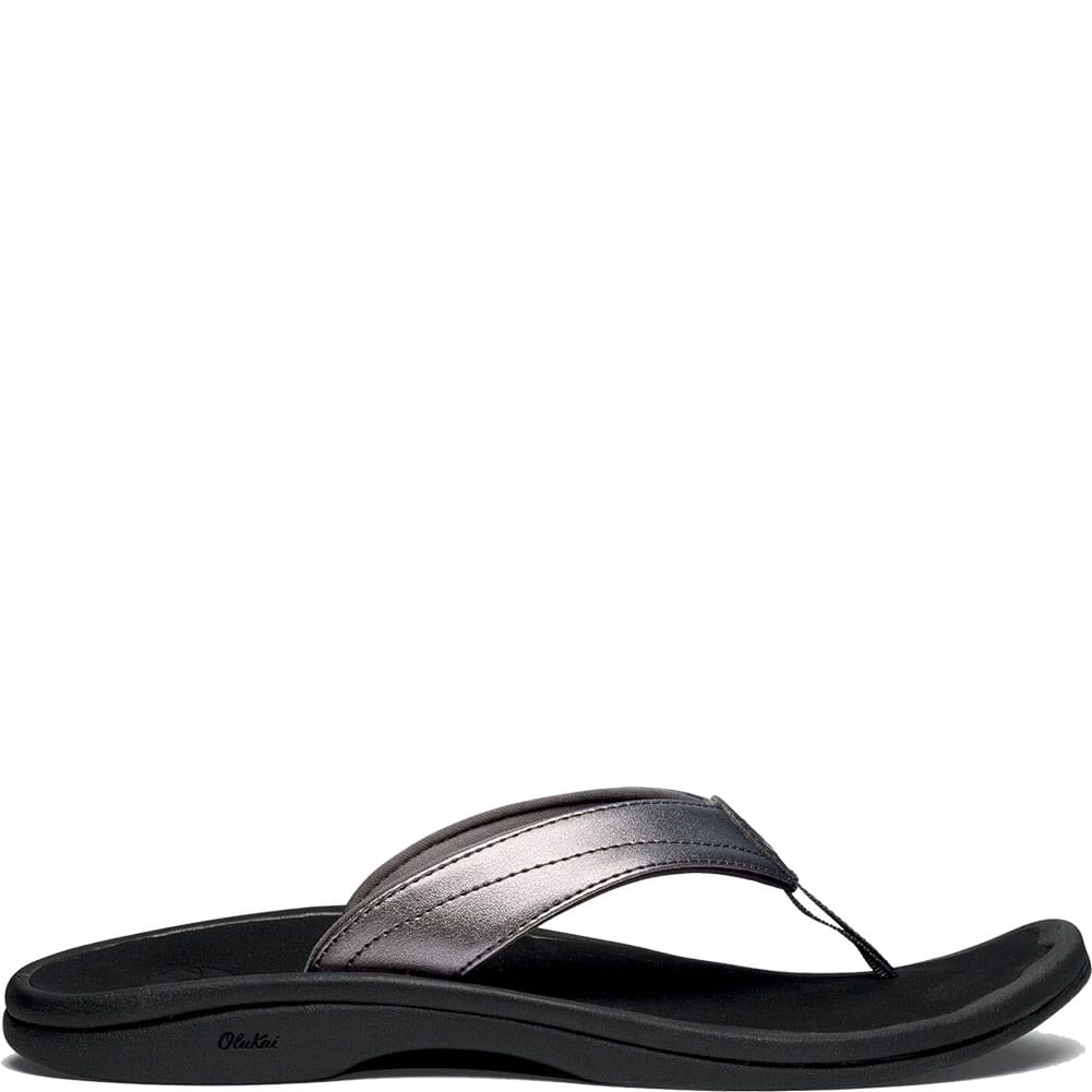 Image for OluKai Women's Ohana Flip Flops - Pewter/Black from bootbay