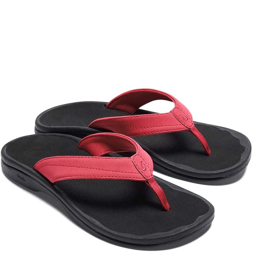 Image for OluKai Women's Ohana Flip Flops - Passion Flower/Black from elliottsboots
