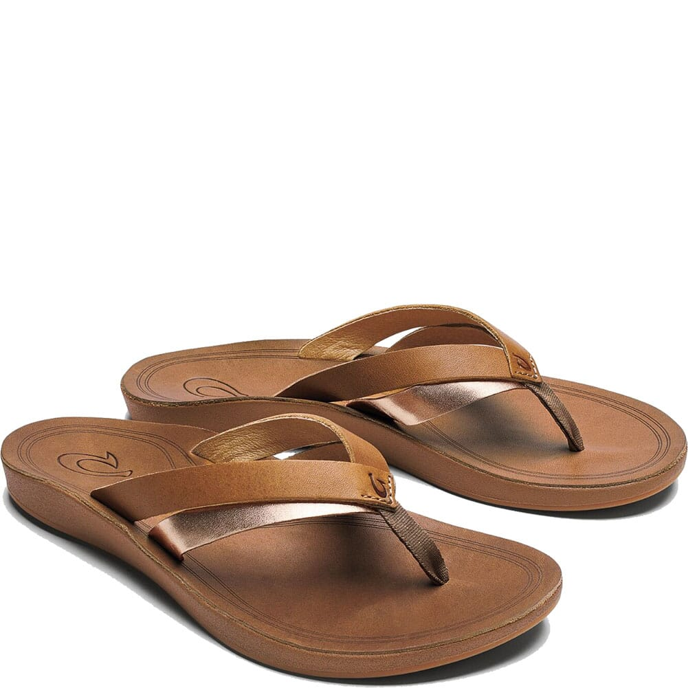 Image for Olukai Women's Kaekae Flip Flops - Sahara/Bubbly from bootbay