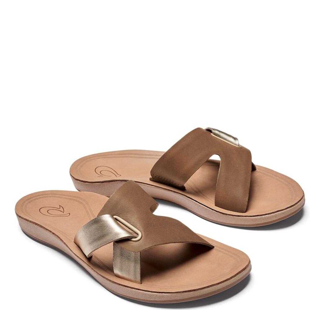 Image for OluKia Women's Nonohe 'Olu Flip Flops - Tan/Golden Sand from bootbay