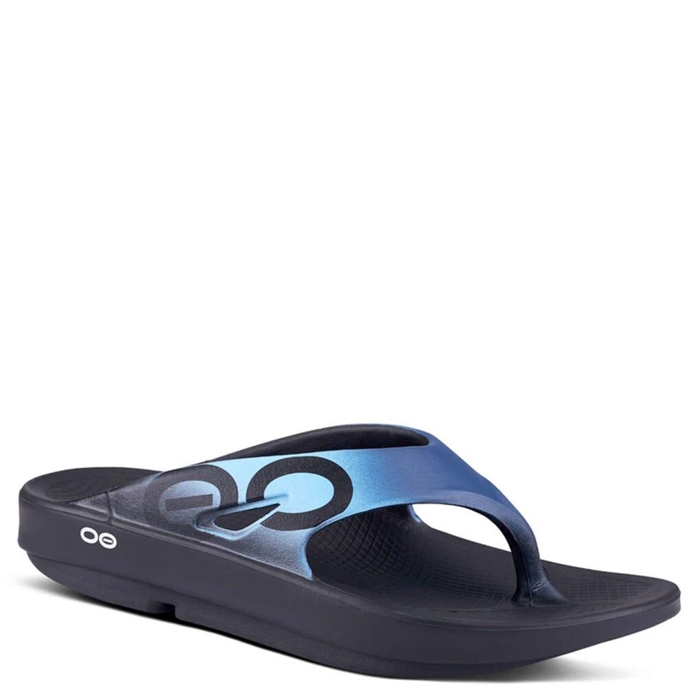 Image for OOFOS Unisex OOriginal Sport Sandals - Black/Azul from elliottsboots